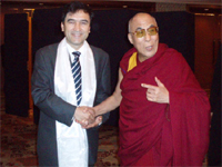 Conference alone and His Holiness the Dalai Lama