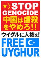 STOP GENOCIDE 中国は虐殺をやめろ!!ウイグルに人権を!